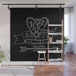 The Heart is an Arrow Wall Mural