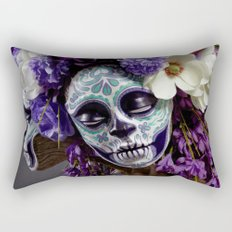 Willow Blossom Muertita Detail Rectangular Pillow