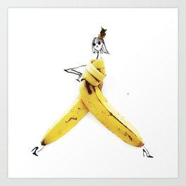 Edible Ensembles: Banana Art Print