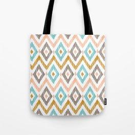 Sketchy Diamond IKAT Tote Bag