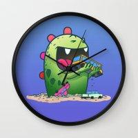 dinosaur Wall Clocks featuring Dinosaur by Artificial primate