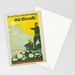 Vintage Mount Cook New Zealand Travel Climbing Stationery Cards