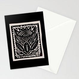 Woodcut Cactus Stationery Cards