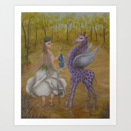 The other side of the forest Art Print