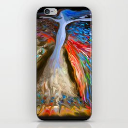 Mother Nature in Sea Blue iPhone Skin