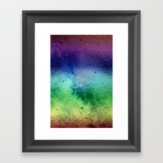 sky the way Framed Art Print