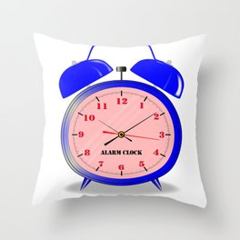 Oval Alarm Clock Throw Pillow