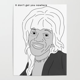 Martha P Johnson Portrait illustration Poster
