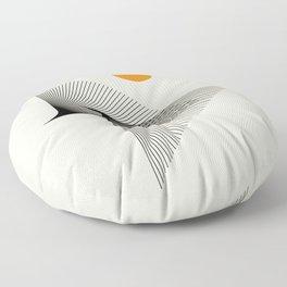 Abstraction_NEW_BIRD_FLY_LINE_POP_ART_033A Floor Pillow