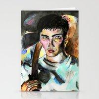 donnie darko Stationery Cards featuring Donnie Darko Portrait by Colin Webber