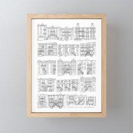 Facades de Plex Montrealais Framed Mini Art Print