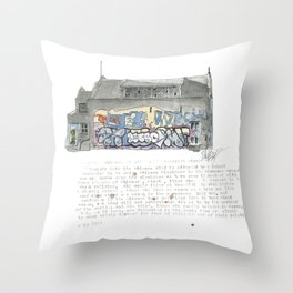 46 Fredrick Street Throw Pillow