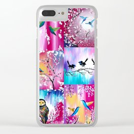 Pink collage Clear iPhone Case