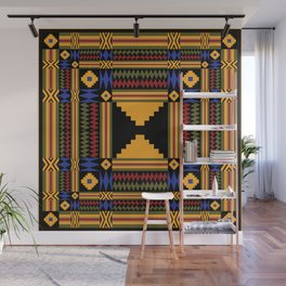 Kente Inspired Textile pattern Wall Mural