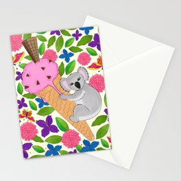 Koala Bear in Summer Stationery Cards