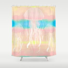 Silent Ocean - Soft Watercolor Pattern Shower Curtain