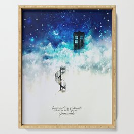 Beyond the clouds | Doctor Who Serving Tray