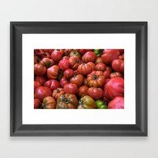 Tomato Pattern Framed Art Print