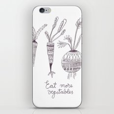 Eat more vegetables iPhone & iPod Skin