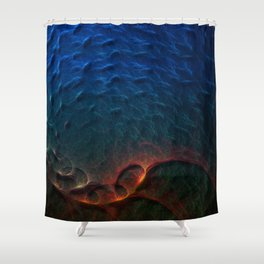 Life In The Abyss Shower Curtain