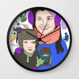 Dina and Dylan in Ithaca Wall Clock