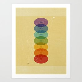 Seven Colours of Chakra Art Print