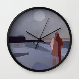 walk away under the moon Wall Clock