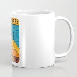 Alaska Anchorage Mountain Vintage Retro 80s Souvenirs Coffee Mug