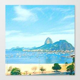 Rio de Janeiro - Pão de Açúcar - Art Canvas Print