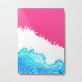 Watercolour Wave Metal Print