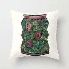 Terrarium Throw Pillow