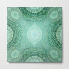 """""""Aquamarine Sea Mandala Deluxe"""" Metal Print"""