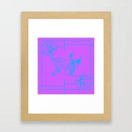 tengu green/orange Framed Art Print