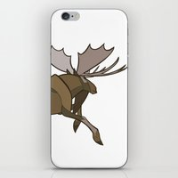 moose iPhone & iPod Skins featuring Moose by Jemma Salume