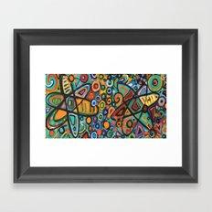 Molecular Structure Framed Art Print