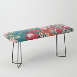 The Domesticated Jungle - Floral Still Life Bench