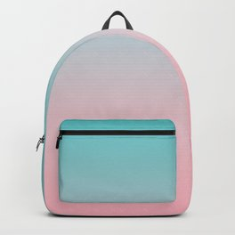 Simple modern minimalist pink turquoise ombre gradient Backpack