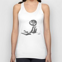 the office Tank Tops featuring Office worker by Reaper
