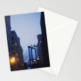 Manhattan Bridge at Night II Stationery Cards