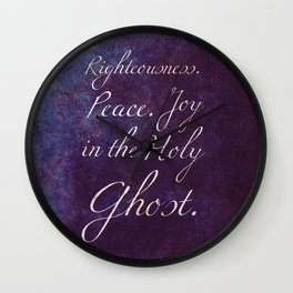 Joy in the Holy Ghost Wall Clock