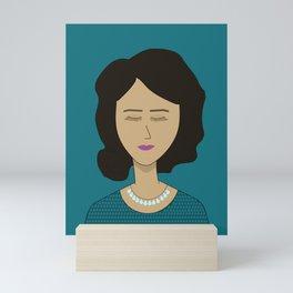 Señorita with a Necklace of Tears Mini Art Print