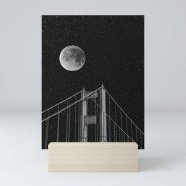 Full Moon Over Golden Gate Bridge San Francisco, California Mini Art Print