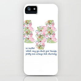 Shabby Chic Designs Pretty Teacups iPhone Case