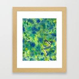 Readers Green Framed Art Print