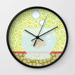 Fishy Os Wall Clock