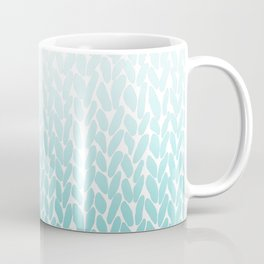 Hand Knitted Ombre Teal Coffee Mug
