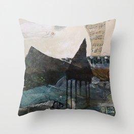 Water Music #9 Throw Pillow
