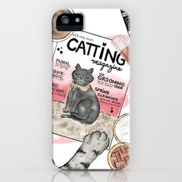 Monday Morning Essentials - featuring Catting Magazine, Spring 2018 iPhone Case