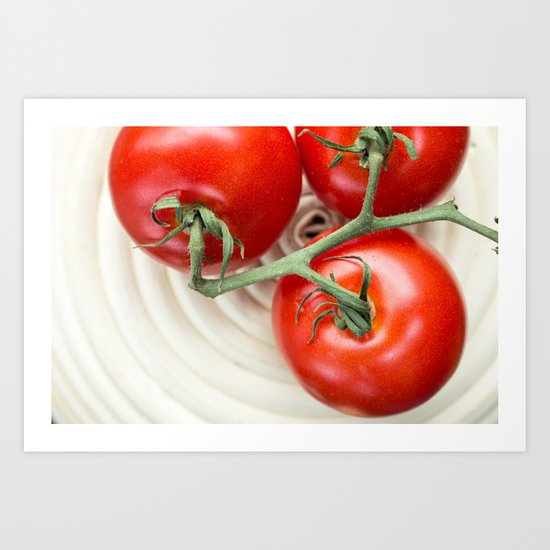 Three Tomatoes Art Print