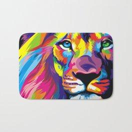 Colorful Lion Bath Mat